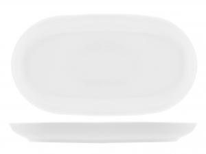 Piatto In Porcellana Oslo Bianco Ovale Cm33