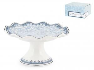 H&h Alzata Porcellana Blue Dream Cm16