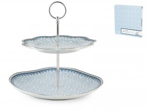 H&h Alzata Porcellana 2 Posti Blue Dream