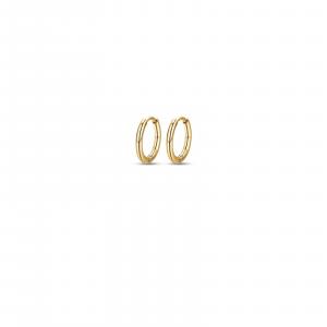 Luca Barra - Orecchini in acciaio IP Gold