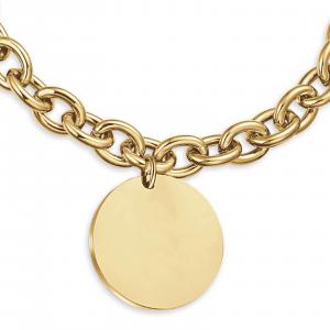Luca Barra - Bracciale in acciaio ip gold per incisioni