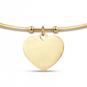 Luca Barra - Bracciale in acciaio ip gold con cuore