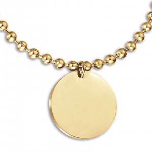 Luca Barra - Bracciale in acciaio ip gold con piastra