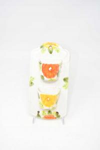 Ceramica Porta Chiavi Da Appedere Con Secchi Fiore Giallo E Arancione Porta Oggetti 11