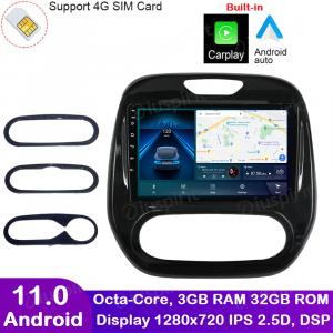 ANDROID autoradio navigatore per Renault Captur 2016-2019 CarPlay Android Auto GPS USB WI-FI Bluetooth 4G LTE