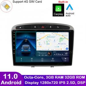 ANDROID autoradio navigatore per Peugeot 308 Peugeot 408 CarPlay Android Auto GPS USB WI-FI Bluetooth 4G LTE