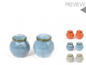 H&h Toscana Set Sale E Pepe, Porcellana, Colori Assortiti