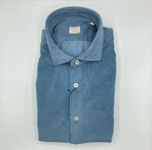 Camicia in velluto tinto capo Xacus