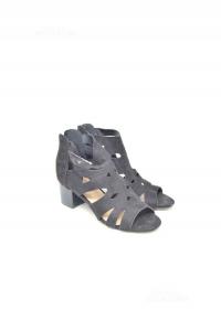 Sandals Woman Enjoy Black Suede N° 37