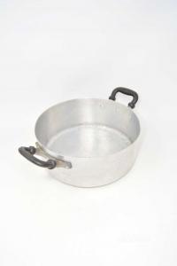 Pentola In Alluminio Con Manici Neri 25x9.5 Cm