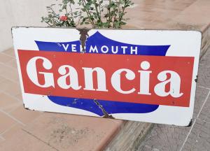 Insegna vintage vermouth GANCIA