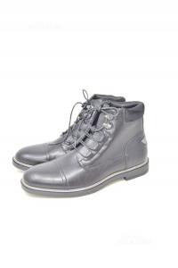 Ankle Boots Man Riflessi Urbani N° 43 Black True Leather Lucidi
