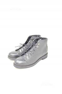 Ankle Boots Man Riflessi Urbani N° 43 Black True Leather New