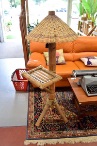 Lamp Ethnic In Bamboo With Table Height