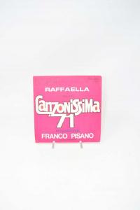 Disc Vinyl 45 Turns Raffaella Sigla Of Canzonissima