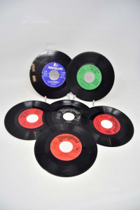 Disc Vinyl 45 Turns Disneyland And Mickey And Fables 6 Pieces