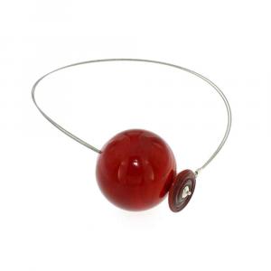 Collana artigianale di design in vetro di Murano PIANETI rosso Marte