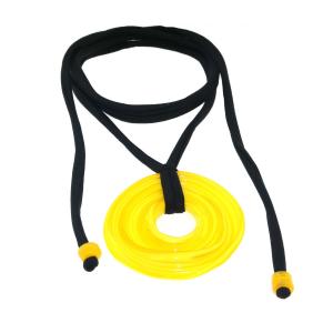 Pendente artigianale in vetro di Murano collana 3° CHAKRA giallo