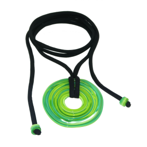 Pendente artigianale in vetro di Murano collana 4° CHAKRA verde