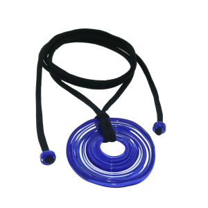 Pendente artigianale in vetro di Murano collana 6° CHAKRA blu