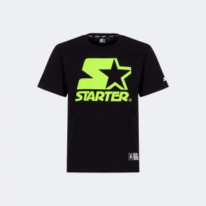 T-SHIRT INVERNALE ICONIC STARTER® UOMO_NERO LIME