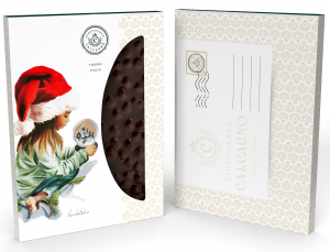 Lastra Nocciolato Fondente - Cartolina di Natale