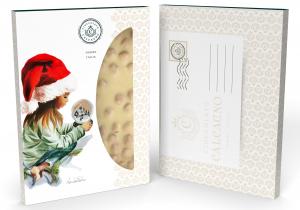 Lastra Nocciolato Bianco - Cartolina di Natale