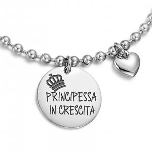Luca Barra - Bracciale con scritta principessa in crescita