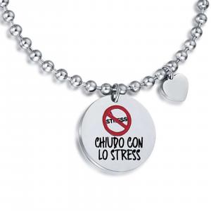 Luca Barra - Bracciale con frase chiudo con lo stress