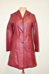 Giacca Donna In Vera Pelle Bordeaux Tg.S