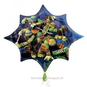 Palloncino Foil Tartarughe Ninja Compleanno bimbo 88x73 cm - Party allestimento