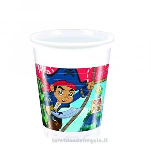 8 pz - Bicchieri Capitan Jake Compleanno bimbo - Party tavola