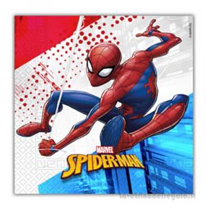 20 pz - Tovaglioli Spiderman Compleanno bimbo 33x33 cm - Party tavola
