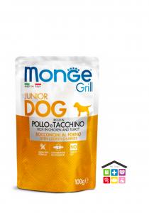Monge grill 0,100g Bocconcini – Ricco in Pollo e Tacchino – Junior