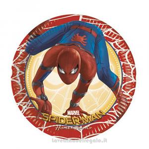 8 pz - Piatti piccoli Spiderman Homecoming Compleanno bimbo 20 cm - Party tavola