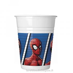 8 pz - Bicchieri Spiderman Team Up Compleanno bimbo - Party tavola