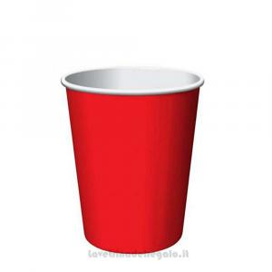 8 pz - Bicchieri rossi Classic Red di carta - Party tavola