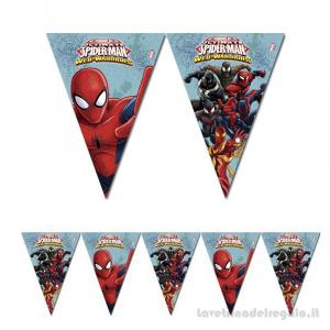 Ghirlanda bandierine Spiderman Web Warriors Compleanno bimbo 2.30mt - Party allestimento