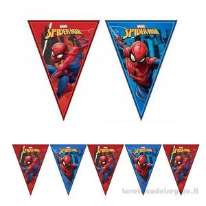 Ghirlanda bandierine Spiderman Team Up Compleanno bimbo 2.30mt - Party allestimento