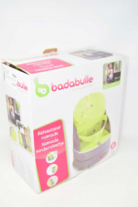 Srialzo Per Chair Portable Children Bababulle Gray And Green Light + 10 Cm - 15 Kg