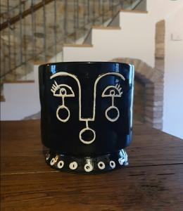Vaso Maori ceramica stilizzato black