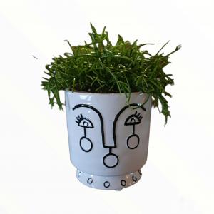 ZAIRA Vaso Ceramica design viso stilizzato