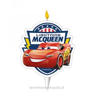 Candelina sagomata Cars in cera Compleanno bimbo 6 cm - Party torta