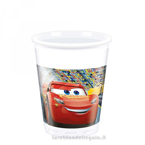 8 pz - Bicchieri Cars 3 Compleanno bimbo - Party tavola