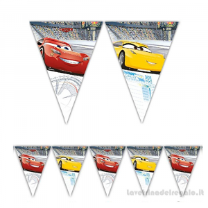 Ghirlanda bandierine Cars 3 Compleanno bimbo 2.30mt - Party allestimento