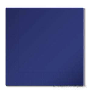 50 pz - Tovaglioli Blu di carta 33x33 cm - Party tavola