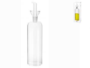 Bottiglia olio vetro trasparente brillante 500ml