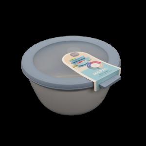 Ciotola con coperchio trasparente 2 litri blu