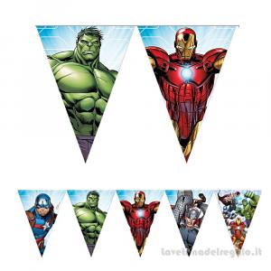 Ghirlanda bandierine Avengers Mighty Compleanno bimbo 2.30mt - Party allestimento