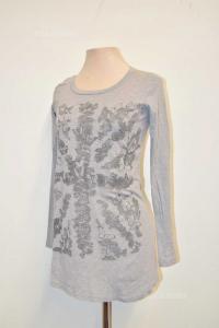 T-shirt Woman Grey Gas Size M-l Fantasy Butterflies